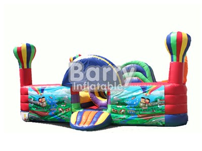 Hot Air Balloon Toddler Unit , Inflatable Playground For Toddler BY-IP-001